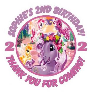 Personalised My Little Pony Party Stickers